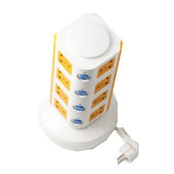 รีวิว Lumira ปลั๊กไฟคอนโด 4 ชั้น มี USB 2 ช่อง รุ่น LM-T4 (สีขาว-ส้ม)