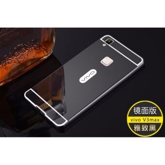 Luxury Metal Frame And Mirror PC Back Cover Case For VIVO V3 Max - intl