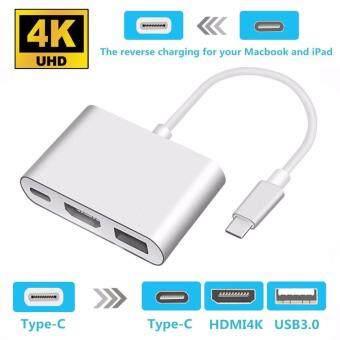 LYBALL type C ถึง 4กิโลไบต์จท HDMI USB 3.0 HUB USB-Cอะแดปเตอร์พอร์ตรุก UBS 3.1 สาย 3ใน1