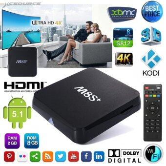 กล่องทีวีแอนดรอยด์ M8S+ S812 Quad Core HD Fully Loaded Android 5.1TV Box 2GB/8GB 4K KODI 15.2 XBMC