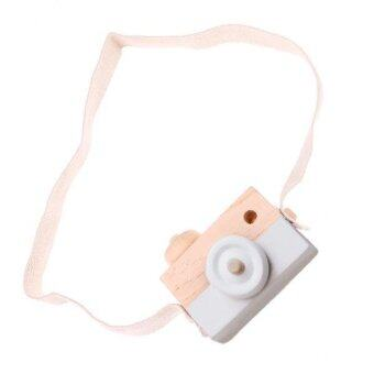 Harga MagiDeal Wooden Toy Camera Kids Girls Boys Creative Neck CameraPhoto Props White - intl
