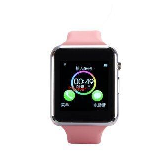 Maker นาฬิกาโทรศัพท์ Bluetooth Smart Watch รุ่น A1 Phone watch (Pink) (image 1)