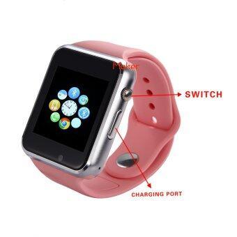 Maker นาฬิกาโทรศัพท์ Bluetooth Smart Watch รุ่น A1 Phone watch (Pink) (image 2)