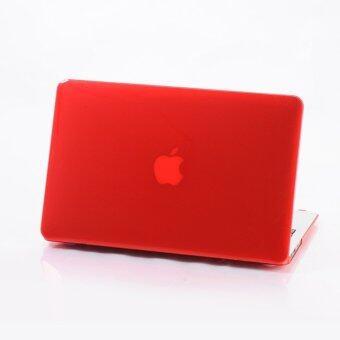 """M&T Rubberized MacBook Case Pro 13"""" (สีแดง)"""