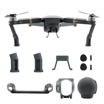 Mavic Pro Drone 4 in 1 Accessories Kits, Landing Gear Leg Lens Hood Sunshade with Silicone Cover Joystick Holder Bracket - intl