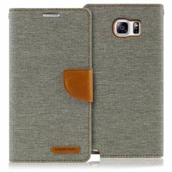 Merucry เคส Samsung Galaxy Note 5 รุ่น Mercury Goospery CanvasDiary Case สี Grey/Camel