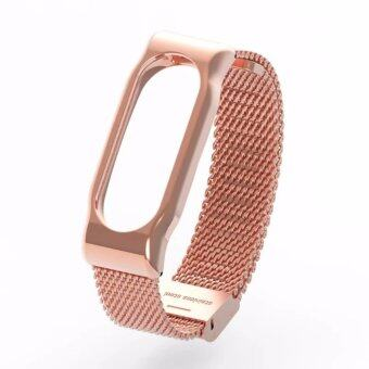 Miband 2 Bands Metal Replacement Wristband Strap For Xiaomi Mi Band2 Smart Miband 2 Bracelet Pulseira Wrist Strap - intl