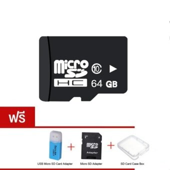 Micro SD Card 64 GB Class 10 Fast Speed+Micro SD Adapter+SD CaseBox+USB Micro SD Card Adapter