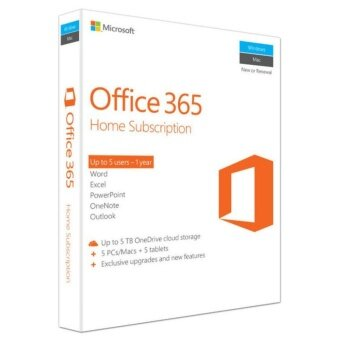 Microsoft Office 365 Home Premium English APAC EM Subscr 1YR Medialess P2 OEM