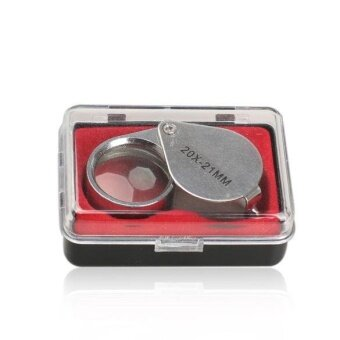 Mini 20 x 21mm Jeweler Loupe Eye Magnifier Magnifying Glass Triplet- intl