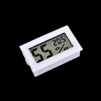 Mini Digital Lcd Thermometer Humidity Meter Gauge TemperatureHygrometer White - intl