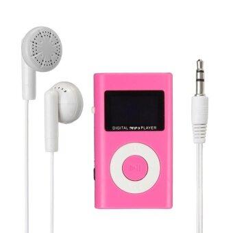 Mini USB MP3 Music Media Player LCD Screen Support 32GB Micro SD TF Card Slot Pink ...