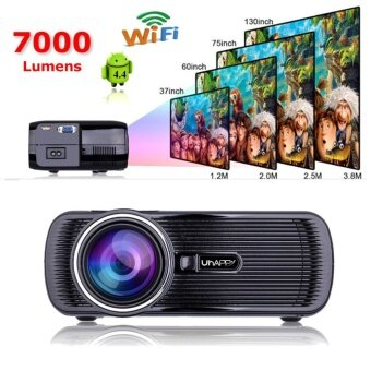 Mini WIFI 7000 Lumens 1080P 3D HD LED Portable Projector Theater Home Cinema - intl