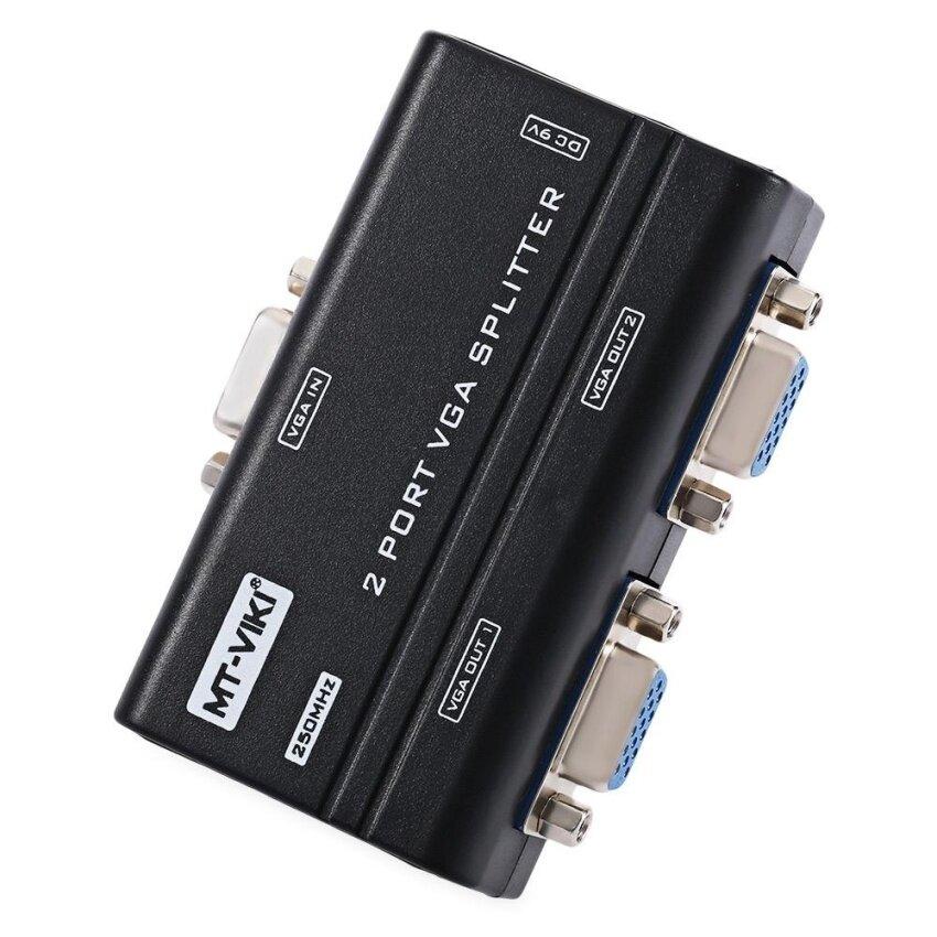 MiniCar Black MT - VIKI 1 Input 2 Outputs VGA Video Converter Splitter 250MHz 1920 x 1440 Resolution US PLUG - intl