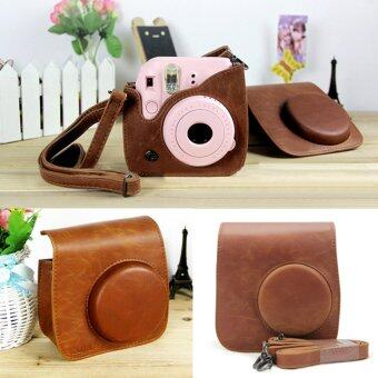 Moonar Fashion PU Leather Camera Case Shoulder Retro Bag for FujiIntax Mini 8 - intl