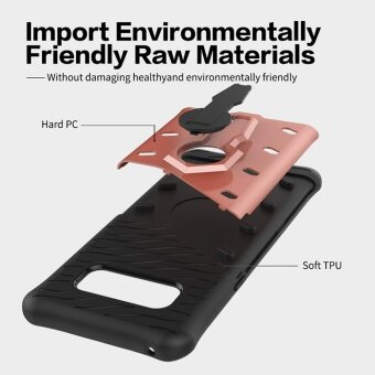 MOONCASE for Samsung Galaxy Note 8 case 360°Rotate Kickstand ShellHybrid Shock-Absorbing Dual Layer Durable Armor Case Cover (AsShown) - intl - 4