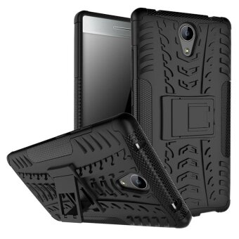 Moonmini for Lenovo Phab2 Hybrid Combo Body Armor High ImpactShockproof Case Defender with Kickstand (Black) - intl