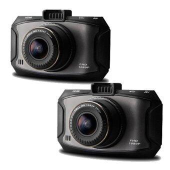 Morestech กล้องติดรถยนต์ G90A Ambarella A7LA50 HDR 1296P Full HD เลนส์ Wide 170 องศา เมนูไทย (Black) (แพ็คคู่)