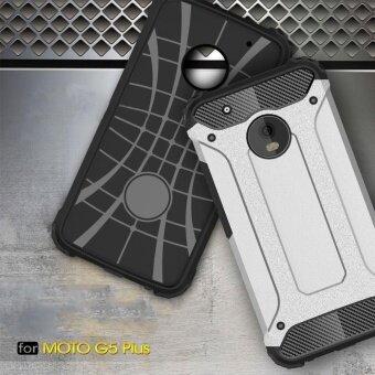Moto G5 Plus Case Armor Series Shock-proof Impact HardPolycarbonate Cover + Inner Soft Rubber 2 in 1 Rugged Case forMotorola Moto G5 Plus - intl - 4