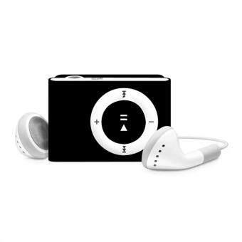 MP3+ Mini Clip MP3 Player Music Speaker เครื่องเล่น MP3 ขนาดพกพา(สีดำ)