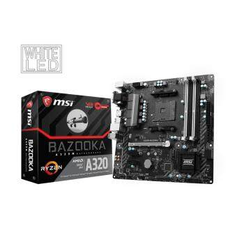 MSI A320M BAZOOKA MAINBOARD AM4 Supports AMD® RYZEN Series processors and 7th Gen A-series / AthlonTM Processors