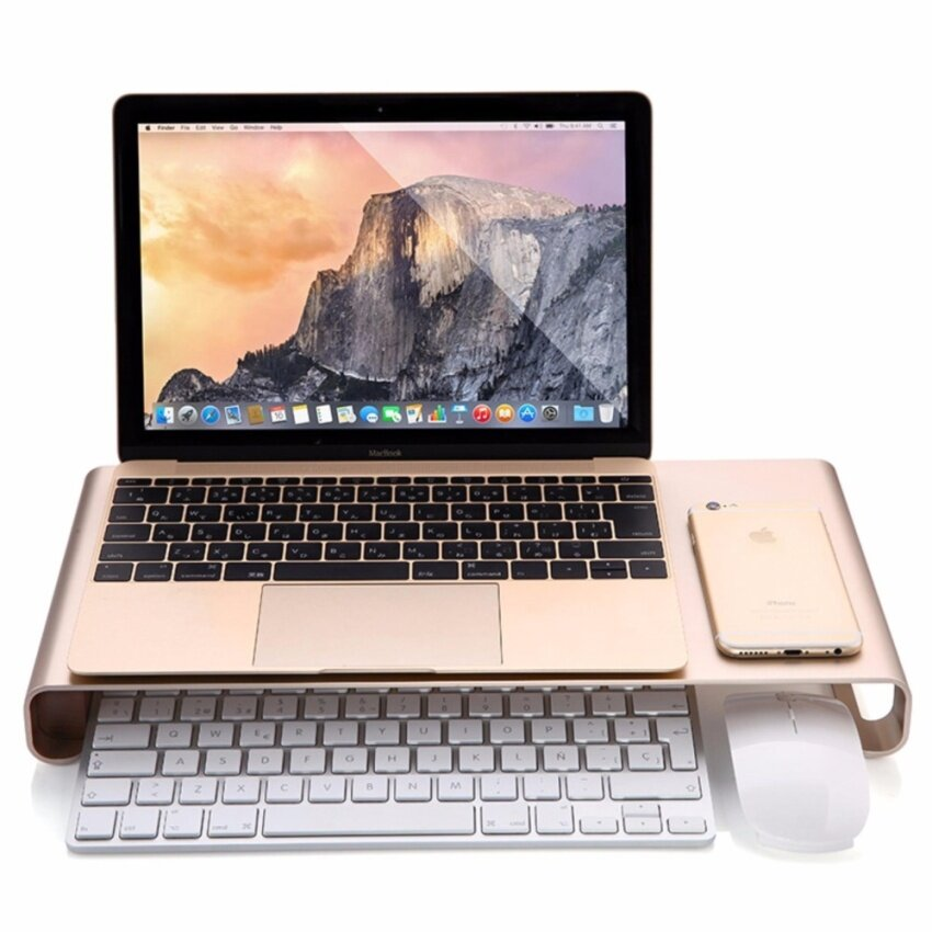 Multifunctional aluminum alloy computer notebook stand Apple iMAC bracket - intl