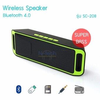 N-tech ลำโพงบลูทูธพกพา Wireless Speaker Super Bass รุ่น SC-208