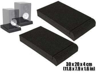 New 2 pcs Bundle Studio Monitor Speaker Isolation Pad SoundAbsorption Foam 30 x 20 x 4 cm KK1108 - intl