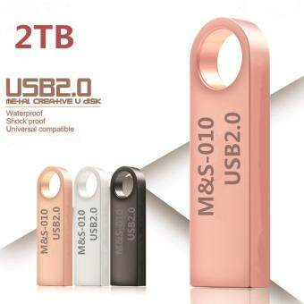 Harga New pendrive 2TB pen drive usb flash drive mini key Metal WaterProof Quick Stick USB Flash Drive - intl