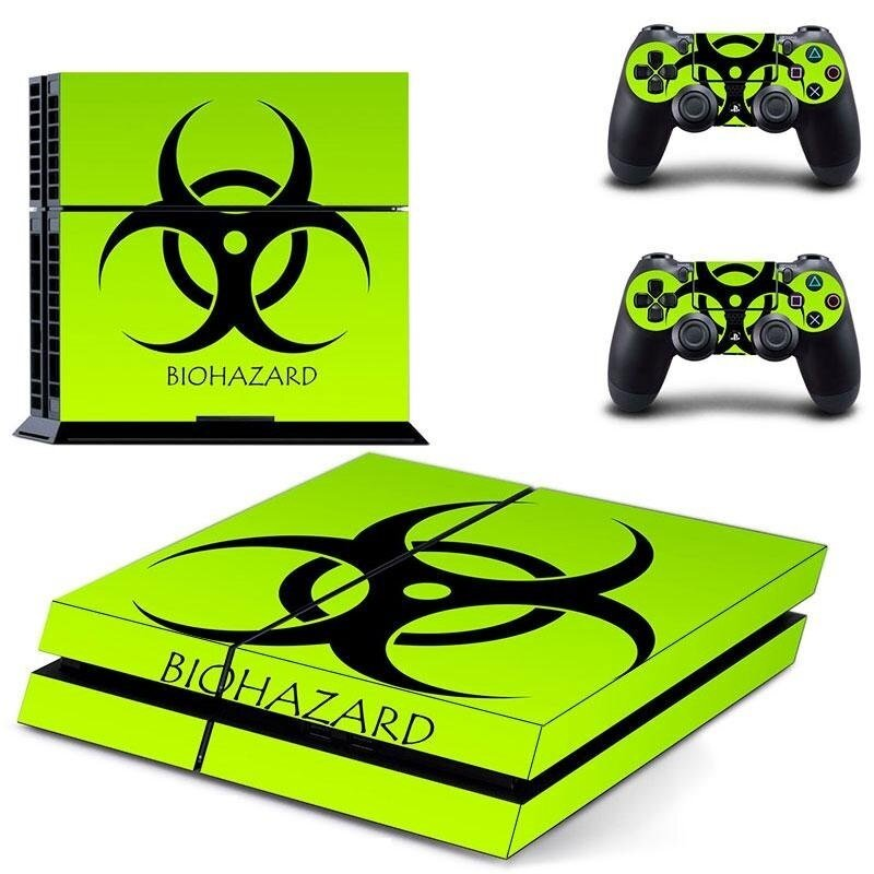 new Resident Evil PS4 Skin Sticker For Sony Playstation 4 PS4 Console Protection Film And 2pcs Controller Protective Skins GCTM0070 - intl
