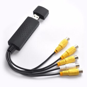 NEW USB 2.0 EasyCap 4 CH Video Audio Capture Card Adapter CCTV DVRSTK1160 chipset - intl