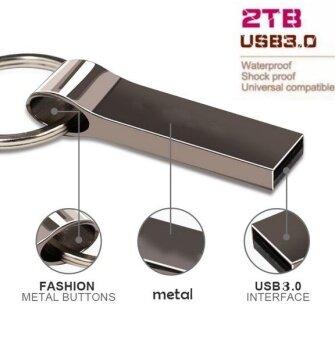 Newest Pendrive 2TB Pen Drive Usb Flash Drive Mini Key Metal WaterProof Quick Stick USB Flash Drive -Silver - intl