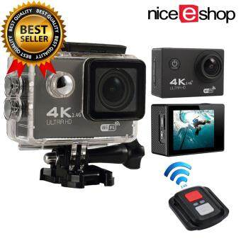 niceEshop 4K HD Wifi Action Camera 2.0 Inch 170 Degree Wide Angle Lens Action Camera WIFI 4k Waterproof Sports Action Camera, Black