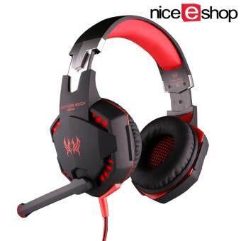niceEshop แต่ละ G2100 ฟังก์ชันพีซีโน้ตบุ๊คแบบสั่นหูโทรศัพท์เกมเกมชุดหูฟังกับไมค์เล่นเบสไฟ led (สีแดงสีดำ)-ระหว่างประเทศ