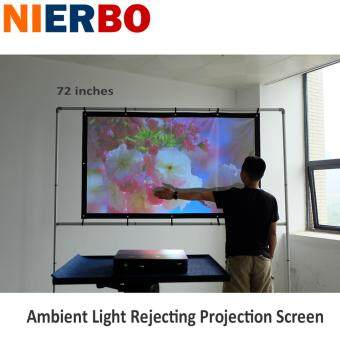 NIERBO Portable Projector Screen High Brightness 72 inches Daytimeuse 3D Projection Screens Anti Light 16:9 Foldable Wall Mount -intl