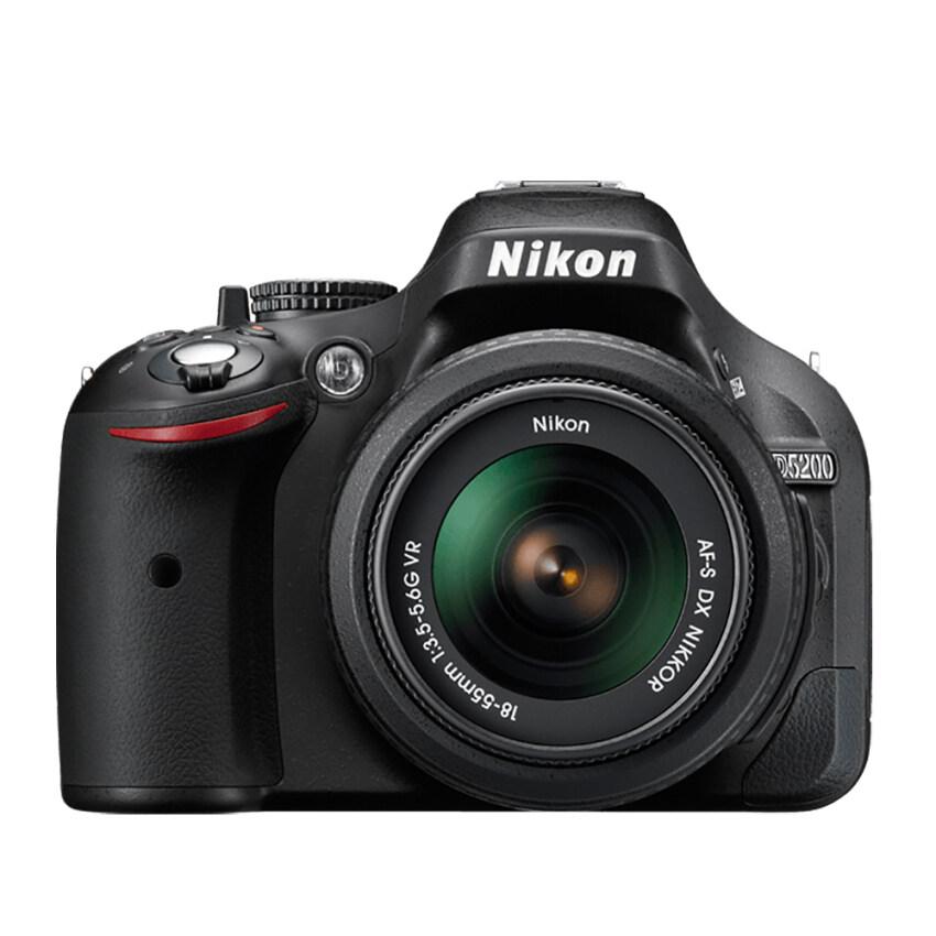 Nikon DSLR D5200 (BK)+AF-S DX ZOOM-NIKKOR 18-55MM F/3.5-5.6G ED II (3.0X) ประกันศูนย์