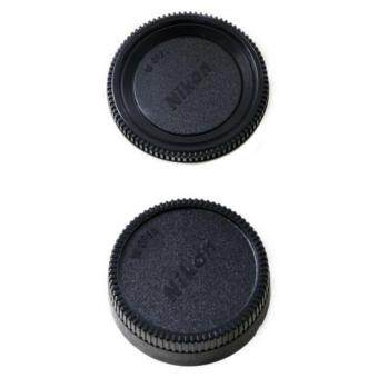 Nikon ชุดฝาปิด Rear Lens Cap ฝาปิดท้ายเลนส์ + Body Cap ฝาปิดบอดี้