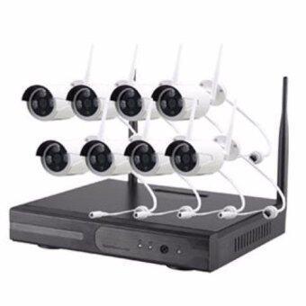 niky กล้องวงจรปิด 960P Wireless WIFI IP Camera NVR Kit CCTV 8CH