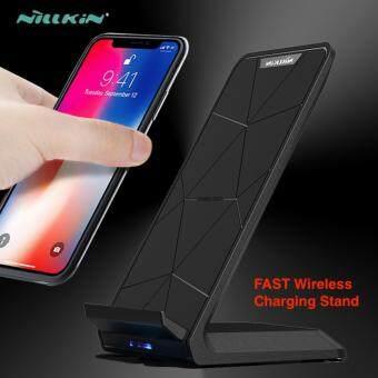 แท่นชาร์จไร้สายแบบเร็วNillkin Fast Wireless Charger Stand Qi Wireless Charging Pad for iPhone X 6 6s 7 8 Plus 10 Samsung S6 S7 Edge S8 Plus Note 8