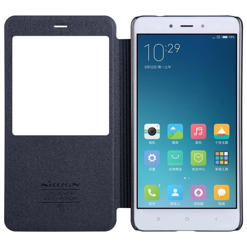 NILLKIN NEW LEATHER CASE Sparkle Leather Case for xiaomi redminote4 5 5 view .