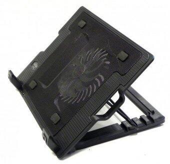 NoteBook Stand & Cooling Padพัดลมระบายความร้อนโน๊ตบุ๊คปรับระดับได้ (สีดำ)ฟรีแผ่นรองเมาส์ (image 2)