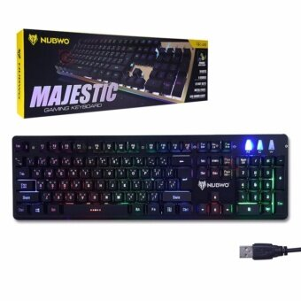 Nubwo MAJESTIC Semi Mechanical switch Gaming Keyboard รุ่น NK-45 - (สีดำ)