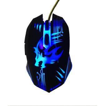 NUBWO Predator เมาส์มีไฟ 7 สี Optical Mouse รุ่น NM-75 (สีดำ) ...
