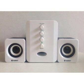 2561 Nubwo Shadow ลำโพงมีชับ เบสหนัก2.1 Subwoofer Speaker USB รุ่น NS-32 (White)สีขาว