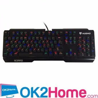 NUBWO ULTIMATE Programmable Mechanical switch Gaming Keyboand รุ่นNK-60 - (สีดำ)