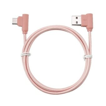 Nylon braided USB Cable Lightning/Micro USB 90 Degree Right AngleMale Data Sync and Fast