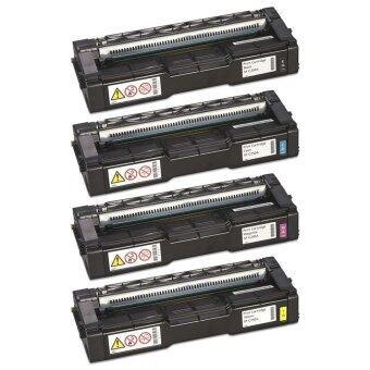 ตลับหมึกพิมพ์เลเซอร์ Ricoh SP C250DN/C250SF/C260DNw/C261DNw/C261SFnw (ครบชุด 4 ตลับ ดำฟ้าม่วงแดงเหลือง)