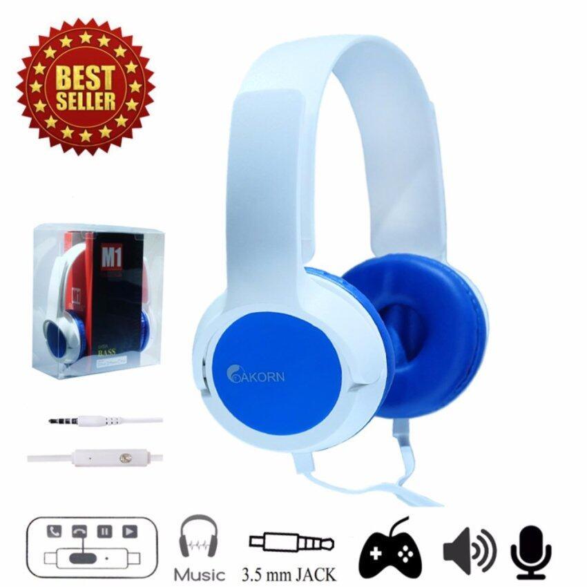 OAKORN Headphones Speaker M1 Blue หูฟังแบบมีสาย รุ่น M1 สีน้ำเงิน