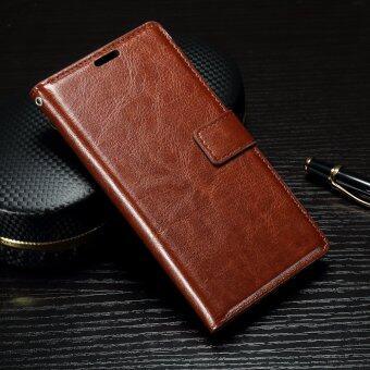 รีวิว Oil Buffed Crazy Horse Leather Wallet Flip Case for Sony Xperia XA/ XA Dual