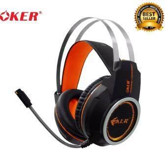 OKER 7.1 Sound Effect Gaming Headset รุ่น X80 - (สีดำ,ส้ม)